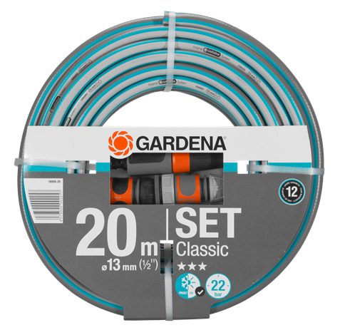 """GARDENA Classic tömlő (1/2"""") rendszerelemekkel - 20m"""
