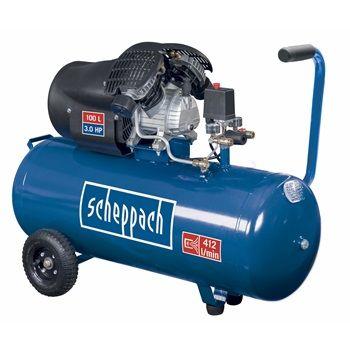 Scheppach HC100DC olajkenésű kéthengeres kompresszor (24 hónap garancia)