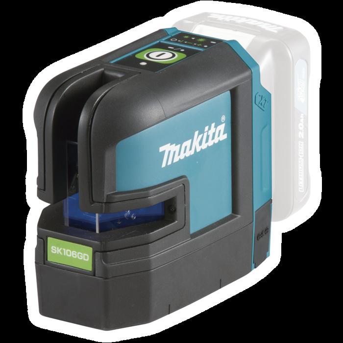 Makita SK106GDZ akkus kereszt és pont lézer géptest (36 hónap garancia)